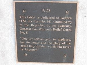 Gen. O. M. Poe Post No. 433 Marker Photo, Click for full size