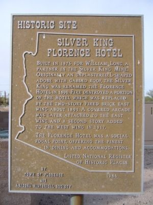 Silver King Florence Hotel Marker image. Click for full size.