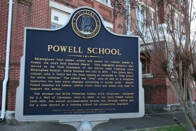Powell School Marker image. Click for full size.