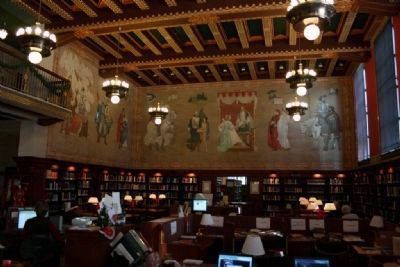 Ezra Winter's Murals In The Main Reading Room Of The Linn - Henley Research Library (East Wall) Photo, Click for full size