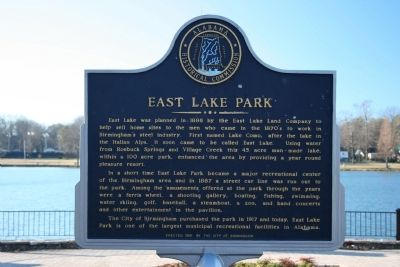 East Lake Park Marker image. Click for full size.