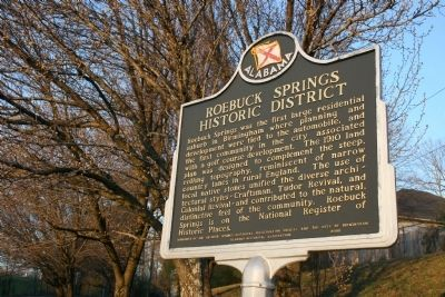 Roebuck Springs Historic District Marker image. Click for full size.
