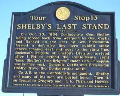 Shelby's Last Stand Marker Photo, Click for full size