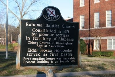 Ruhama Baptist Church Marker image. Click for full size.