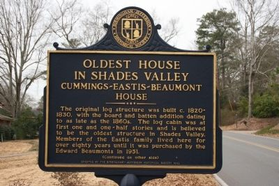 Side A: Oldest House In Shades Valley / Irondale Furnace Commissary Marker image. Click for full size.