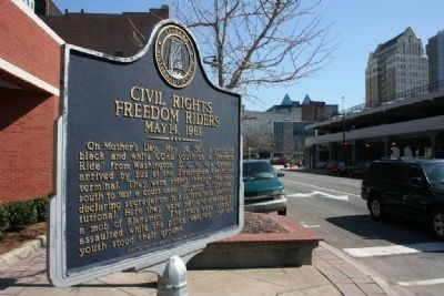 Civil Rights Freedom Riders Marker Photo, Click for full size