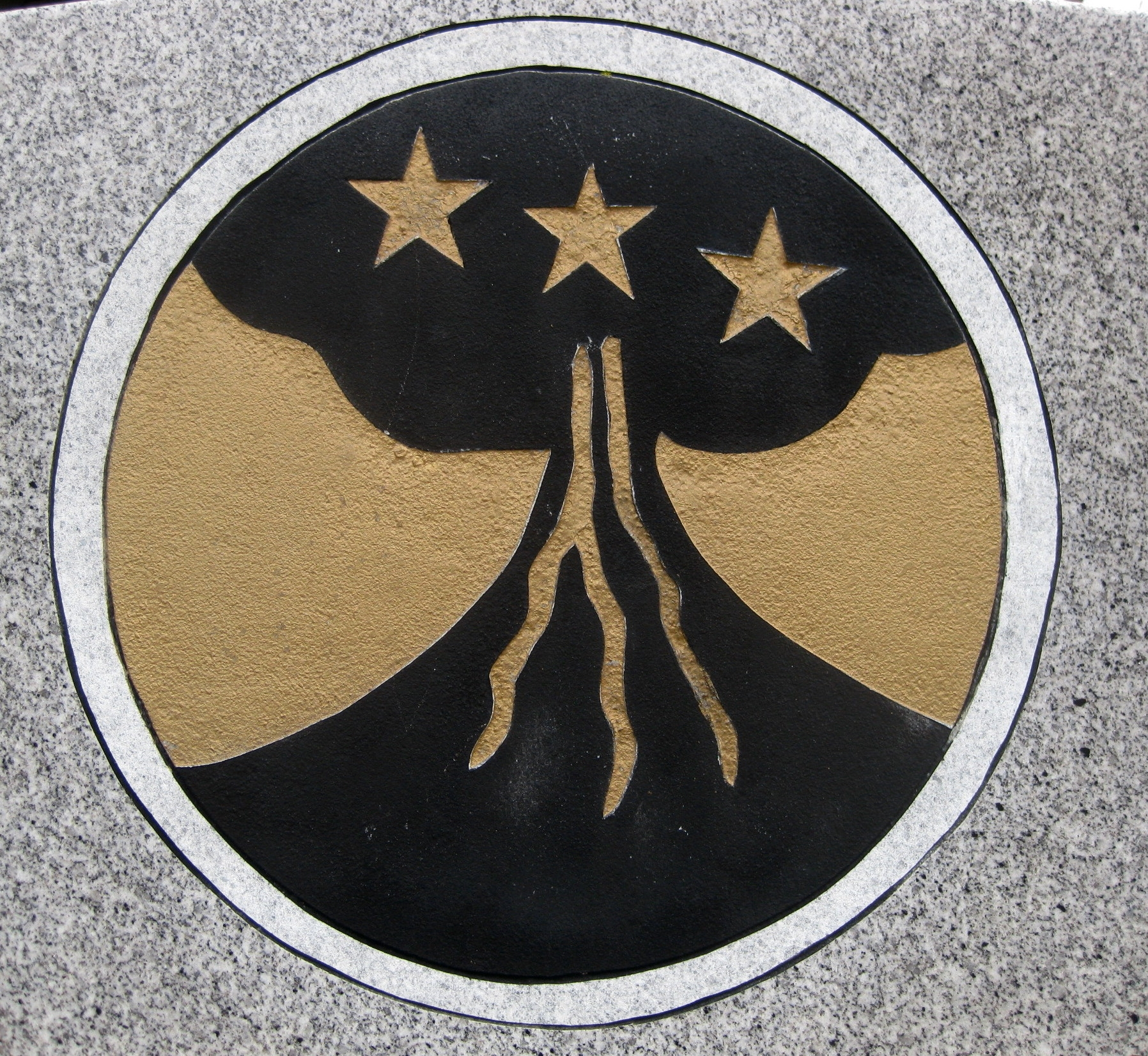 Closeup of Marker - Insignia of Filipino Battalions and Regiments