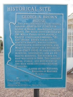 George A. Brown House Marker image. Click for full size.