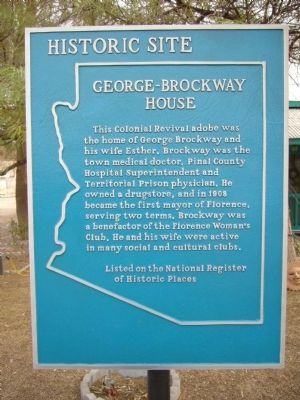 George-Brockway House Marker image. Click for full size.