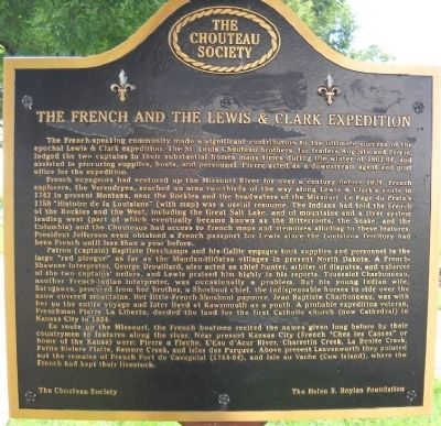 The French and the Lewis & Clark Expedition Marker image. Click for full size.