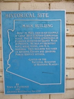 Mauk Building Marker image. Click for full size.