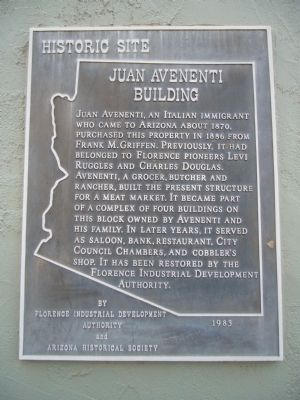 Juan Avenenti Building Marker image. Click for full size.
