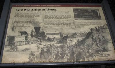 Civil War Action at Vienna Marker Photo, Click for full size