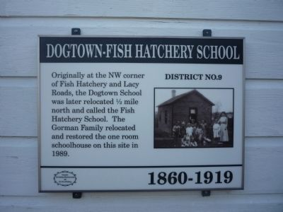 Dogtown - Fish Hatchery School Marker image. Click for full size.