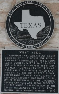 West Hill Marker image. Click for full size.