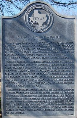 Dr. Jacob Tally Wilhite Marker image. Click for full size.