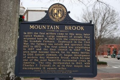 Mountain Brook Marker image. Click for full size.