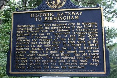 Side B: Brock's Gap / Historic Gateway To Birmingham Marker image. Click for full size.