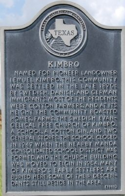 Kimbro Marker image. Click for full size.