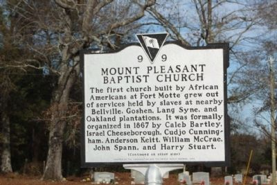 Mount Pleasant Baptist Church Marker Photo, Click for full size