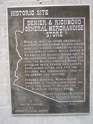 Denier & Richmond General Merchandise Store Marker image. Click for full size.