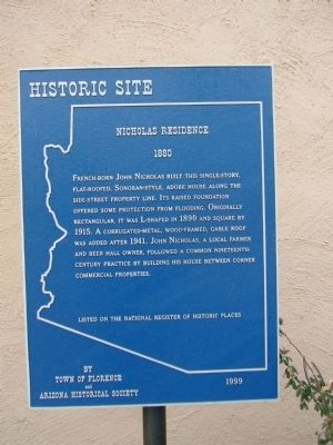 Nicholas Residence Marker image. Click for full size.