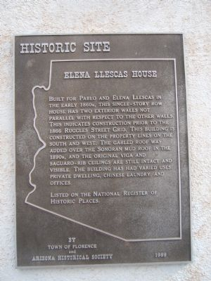 Elena Llescas House Marker image. Click for full size.