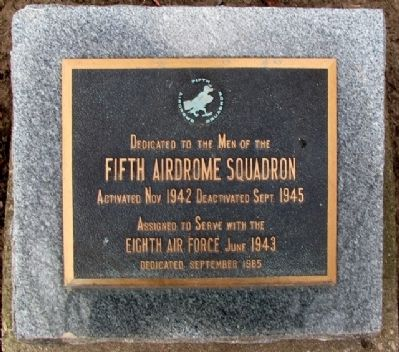 Fifth Airdrome Squadron Marker image. Click for full size.