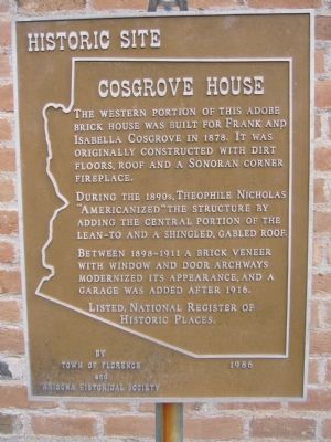 Cosgrove House Marker image. Click for full size.