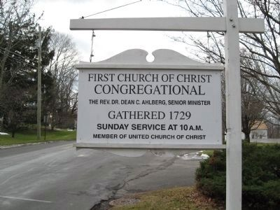 First Church of Christ Congregational Sign image. Click for full size.