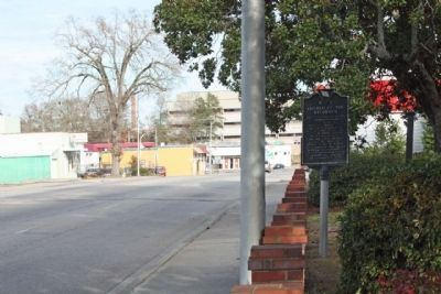 Church of the Redeemer Marker, looking eastward along Russell Street Photo, Click for full size