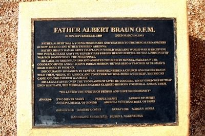Father Albert Braun O.F.M. Marker Photo, Click for full size