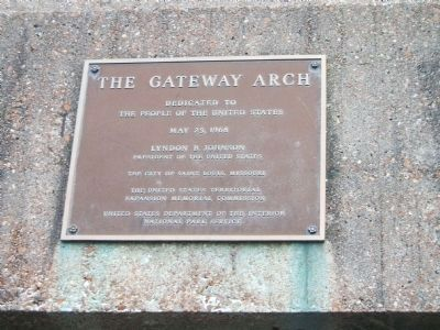 The Gateway Arch Marker Photo, Click for full size