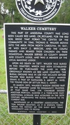 Walker Cemetery Marker image. Click for full size.