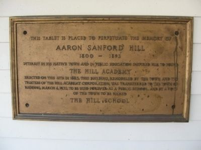 The Hill Academy Marker image. Click for full size.