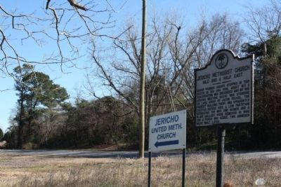 Jericho Methodist Church Marker, at Jericho Road (State Road 9-26) image, Click for more information