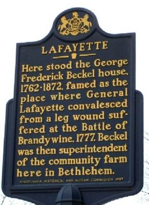 Lafayette Marker image. Click for full size.