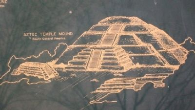 Aztec Temple Mound on Myth Marker image. Click for full size.