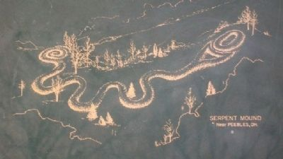 Serpent Mound on Myth Marker image. Click for full size.