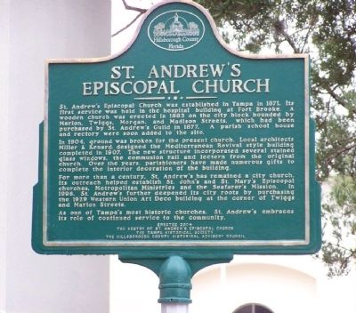 St. Andrew's Episcopal Church Marker Photo, Click for full size