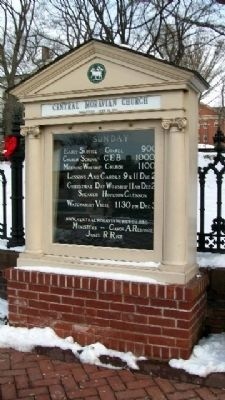 Central Moravian Church Sign Photo, Click for full size