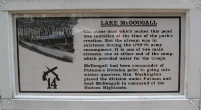 Lake McDougall Marker image. Click for full size.