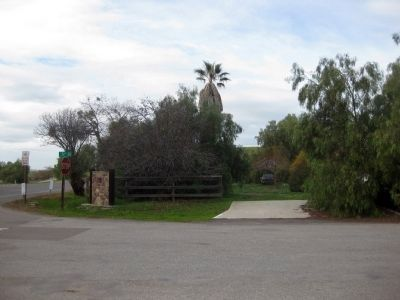 Site of the Tres Pinos Hotel Marker - Wide Shot image. Click for full size.