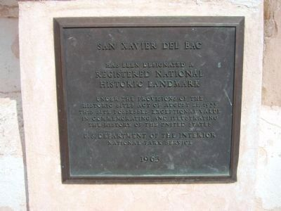 San Xavier del Bac National Historical Landmark Plaque image. Click for full size.