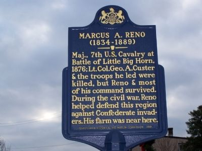 Marcus A. Reno Marker image. Click for full size.