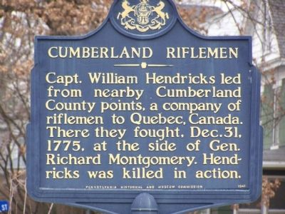 Cumberland Riflemen Marker image. Click for full size.