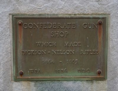 Confederate Gun Shop Marker image. Click for full size.