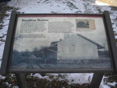 Hamilton Station Marker Photo, Click for full size