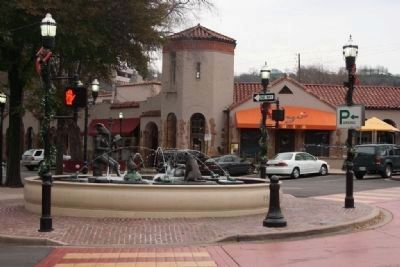 The Storytellers Fountain and Spanish Revival Buildings along 11th Avenue South Photo, Click for full size