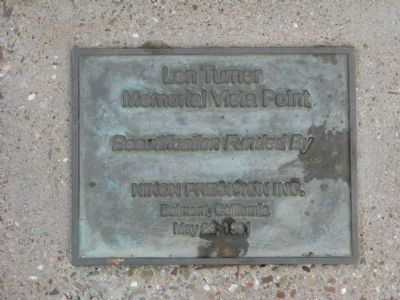 Dedication Plaque Located Below the Large Rock image. Click for full size.